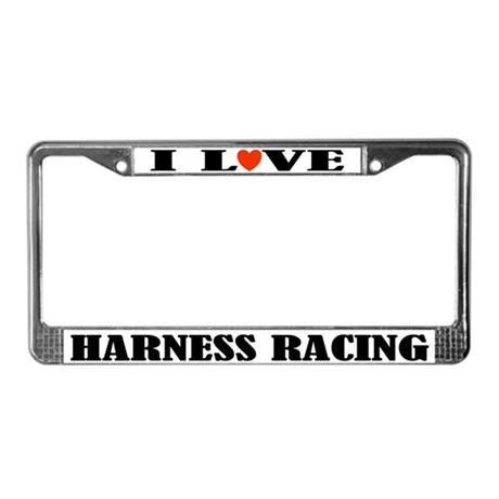 I Love Harness Racing License Plate Frame