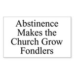 Abstinence Rectangle Sticker
