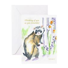 FERRET Sympathy Greeting Card