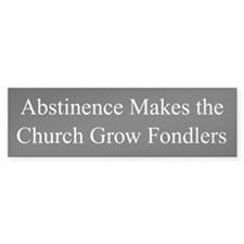 Abstinence Bumper Bumper Sticker