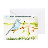 BUDGIE Sympathy Greeting Card