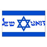 Flag Jew-Unit Rectangle Decal