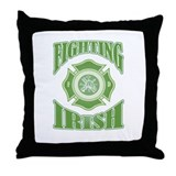 Fighting Irish Firefighter Throw Pillow