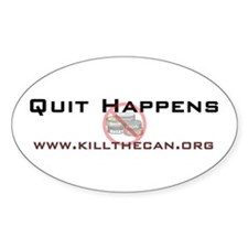 """Quit Happens"" Oval Decal"