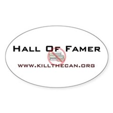 """Hall Of Famer"" Oval Decal"