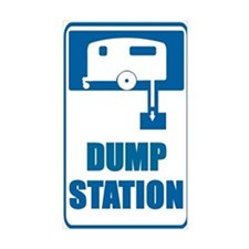 Bathroom Door Dump Station Rectangle Decal