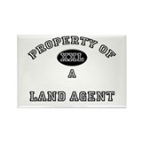 Property of a Land Agent Rectangle Magnet