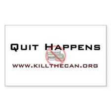 """Quit Happens"" Rectangle Decal"