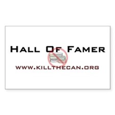 """""""Hall Of Famer"""" Rectangle Decal"""