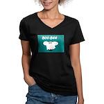 BOO-BEE Women's V-Neck Dark T-Shirt