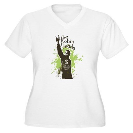 Robin Hoods Women's Plus Size V-Neck T-Shirt