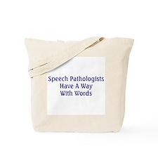 Speech Pathologist Tote Bag