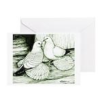 Ice Pigeons Greeting Card