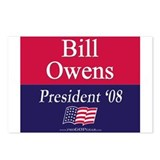 """Bill Owens for President"" Postcards (8)"