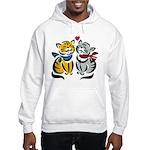 Yellow Cat Loves Grey Cat Hooded Sweatshirt