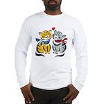 Yellow Cat Loves Grey Cat Long Sleeve T-Shirt