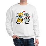 Yellow Cat Loves Grey Cat Sweatshirt