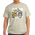 Yellow Cat Loves Grey Cat Ash Grey T-Shirt