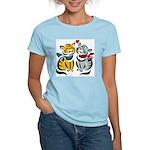 Yellow Cat Loves Grey Cat Women's Pink T-Shirt