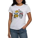 Yellow Cat Loves Grey Cat Women's T-Shirt