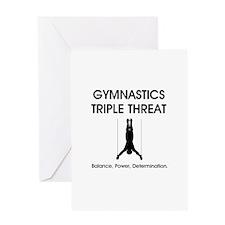 Gymnastics Teepossible.com Greeting Card