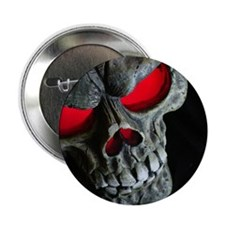"Red Eyed Skull 2.25"" Button (100 pack)"