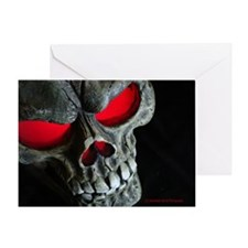 Red Eyed Skull Greeting Card