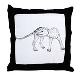 Thylacinus Cynocephalus Throw Pillow