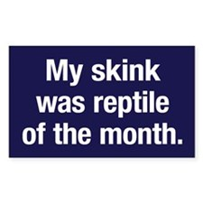 Skink of the Month Rectangle Decal