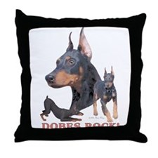 Dobes ROCK Throw Pillow