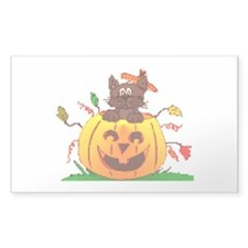 Pumpkin Surprise Rectangle Decal