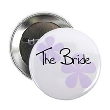 The Bride Lilac Flowers Button