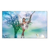 SWAN LAKE Rectangle Decal