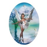 SWAN LAKE Oval Ornament