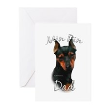 Min Pin Dad2 Greeting Cards (Pk of 10)