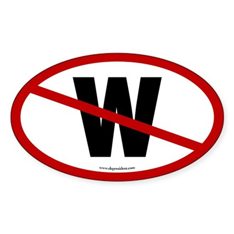 No W Oval Sticker