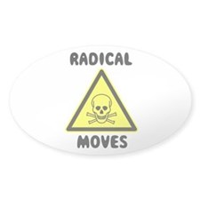 Radical Moves Oval Decal