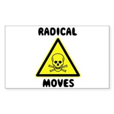 Radical Moves Rectangle Decal
