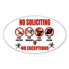 No Solicitors Oval Decal
