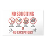No Solicitors Rectangle Decal