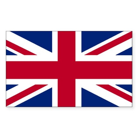 Union Jack Rectangle Sticker