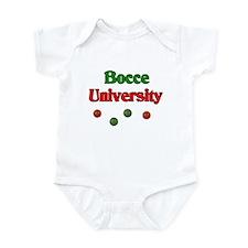 Bocce University Infant Bodysuit
