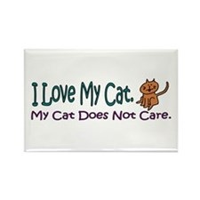I Love My Cat... Rectangle Magnet (10 pack)
