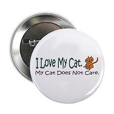 I Love My Cat... Button