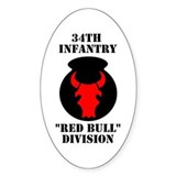 34th Infantry Division (4) Oval Decal