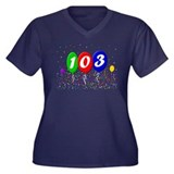 103rd Birthday Women's Plus Size V-Neck Dark T-Shi