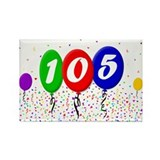 105th Birthday Rectangle Magnet (100 pack)