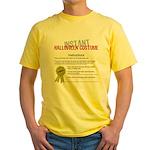 Instant Halloween Costume Yellow T-Shirt