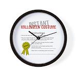 Instant Halloween Costume Wall Clock