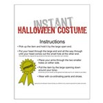 Instant Halloween Costume Small Poster